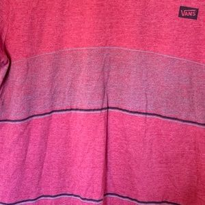 Vans Striped Logo T Shirt